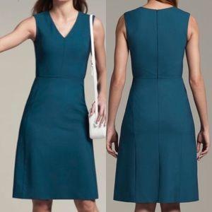 MM Lafleur Annie Sheath Dress: Pacific Blue Teal
